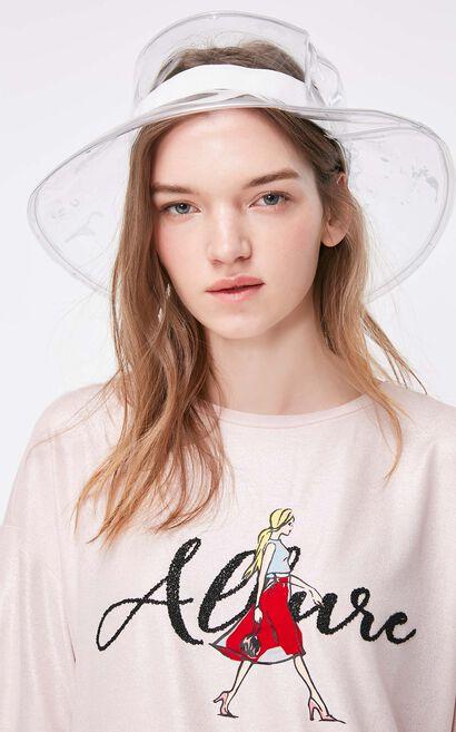 ONLY2019夏季新款亮粉系帶寬鬆半袖T恤|119201502, 粉色, large