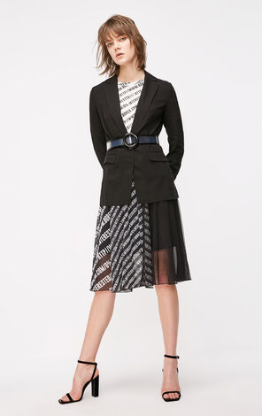 ONLY2019春夏新款chic黑色休閒西裝外套 119108523