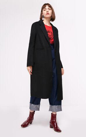 冬季新款雙面呢含羊毛毛呢女|11836U501