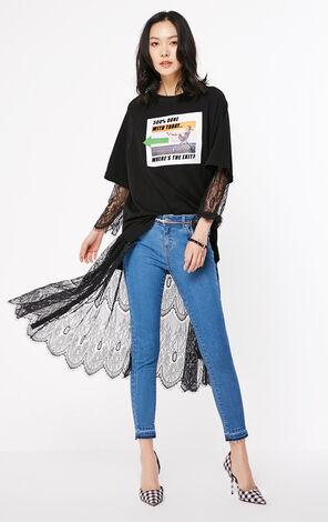 ONLY2019春季新款低腰緊身顯瘦九分牛仔褲