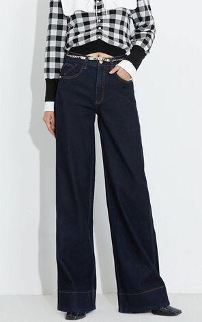 時尚潮流寬鬆直筒牛仔褲