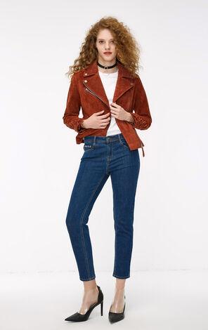 秋季新款低腰緊身九分牛仔褲女|118349608