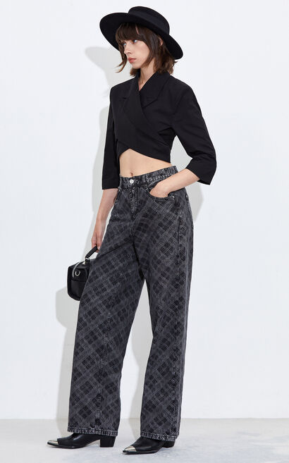 優雅氣質百搭襯衫, 黑, large