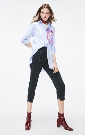 ONLY2019夏季新款條紋寬鬆BF風襯衫|119105557
