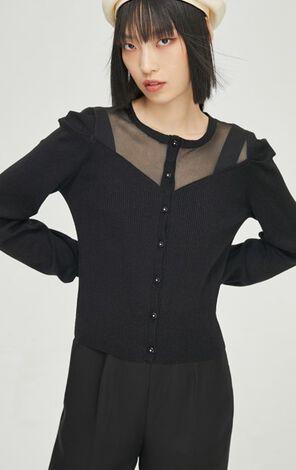 時尚迷人長袖針織衫