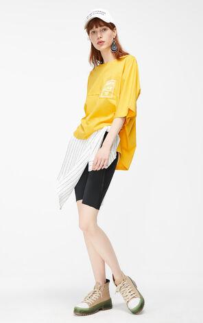 ONLY2019秋季新款英文字寬鬆純棉T恤