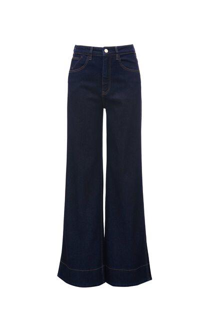 時尚潮流寬鬆直筒牛仔褲, 藍灰, large