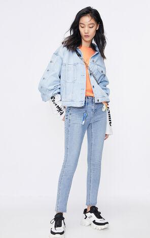 ONLY 時尚低腰修身顯瘦九分窄管牛仔褲 120149650