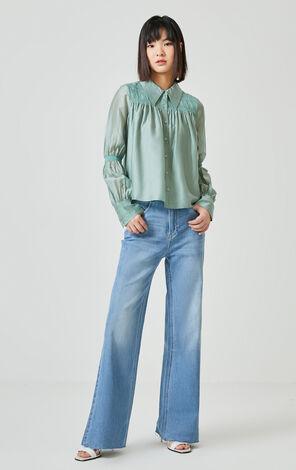 氣質編織工藝長袖襯衫