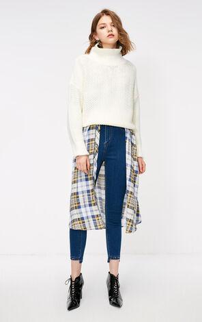 秋季新款寬鬆套頭純色針織衫女|118313504