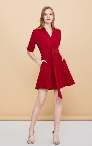 法式復古收腰顯瘦襯衫洋裝