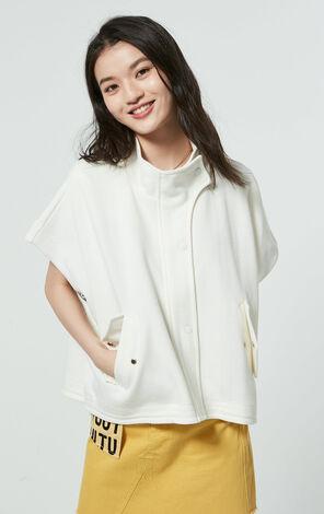 無袖寬版休閒慵懶薄針織外套
