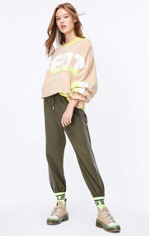 ONLY2019秋季新款寬鬆英文字長袖T恤|119302502
