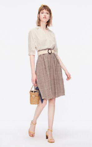 ONLY2019夏季新款復古假兩件襯衫洋裝|119207560