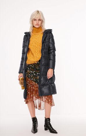 冬季新款輕型便攜連帽長款羽絨服女|118312512
