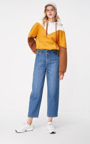 ONLY2019春季新款復古寬鬆燈籠九分牛仔褲|119149554