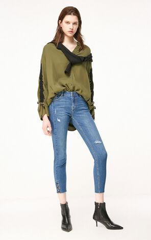 ONLY2019春季新款chic低腰合身九分牛仔褲|119149602