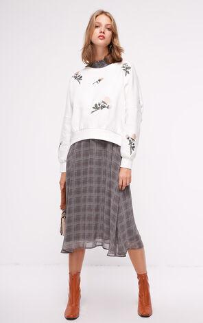 秋季新款花朵刺繡加絨套頭衛衣女|11839S550