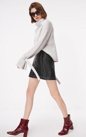 冬季新款繫帶毛衣針織衫女|118313533