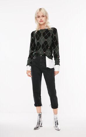 冬季新款金屬絲刺繡毛衣針織衫女|118324519
