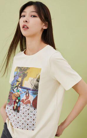 時尚休閒圓領短袖T恤