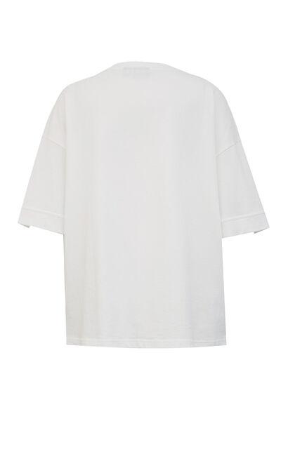 時髦鐳射字母印花百搭T恤, 白, large