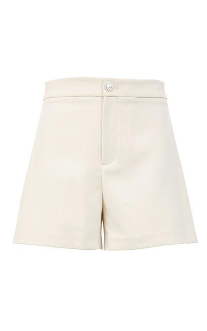 簡約百搭休閒短褲, 白, large