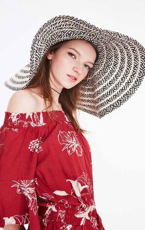 ONLY2019夏季新款清新編織大簷沙灘草帽|119286501