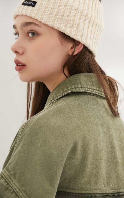 時尚潮流短款寬鬆個性拼接外套, 杏色, large