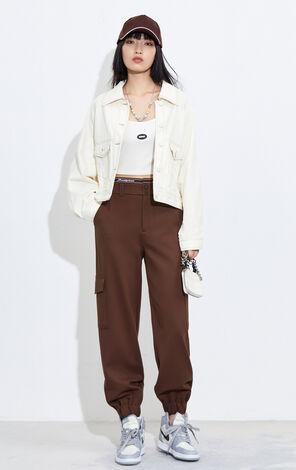 個性縫補設計短版牛仔外套