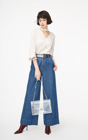 ONLY2019春季新款chic氣質寬鬆時尚雪紡衫