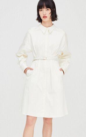 簡約純色修身設計感洋裝