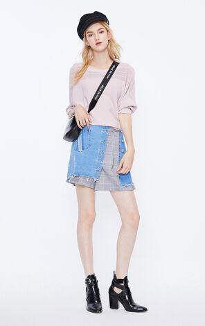 ONLY2019夏季新款空花圓領薄針織衫