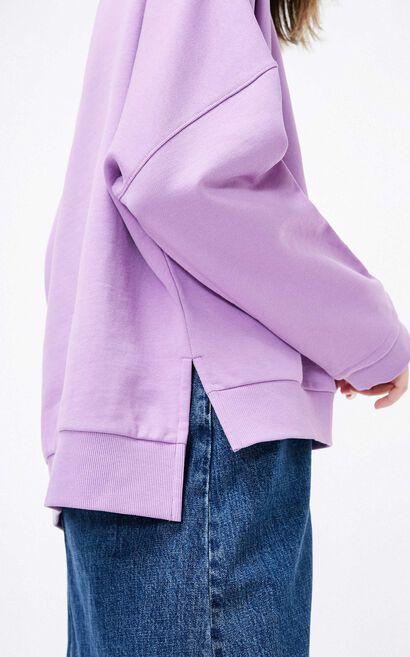 ONLY2019春季新款個性圖像寬版衛衣 11919S538, 紫色, large