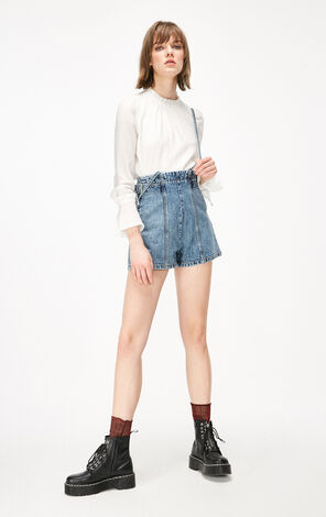 ONLY2019春夏新款chic寬鬆長袖襯衫|119158521