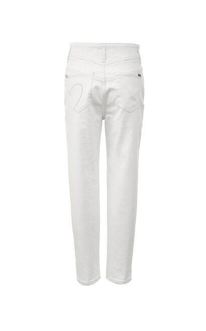 高腰顯瘦直筒九分丹寧褲, 白, large