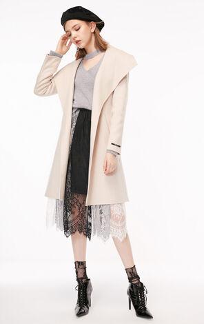 冬季新款含羊毛毛呢大衣女|11834S527