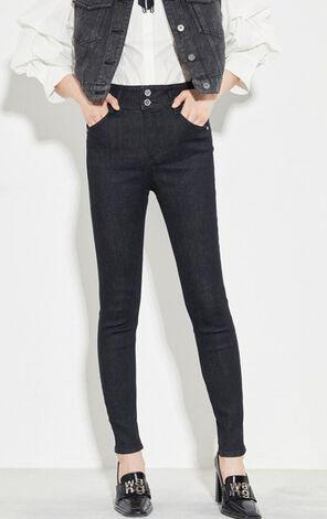 時尚高腰舒適緊身顯瘦牛仔褲