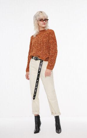 冬季新款雪尼爾線金屬絲套頭針織衫女|118313516