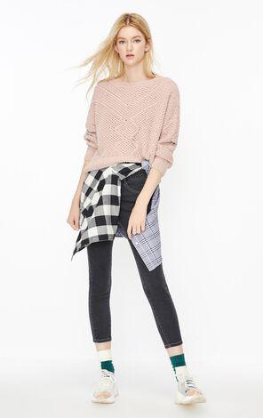 甜美雪尼爾線針織衫