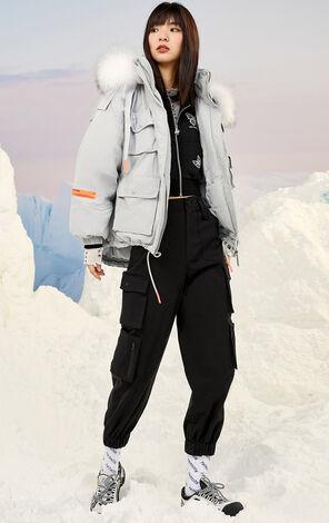【冬季新款】暖冬氣質毛領羽絨外套