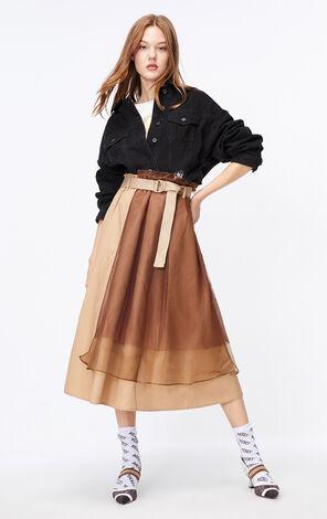 ONLY2019秋季新款高腰網紗拼接裙 119316518