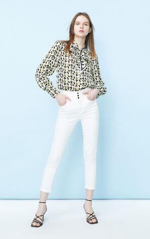 復古潮設計雪紡長袖襯衫