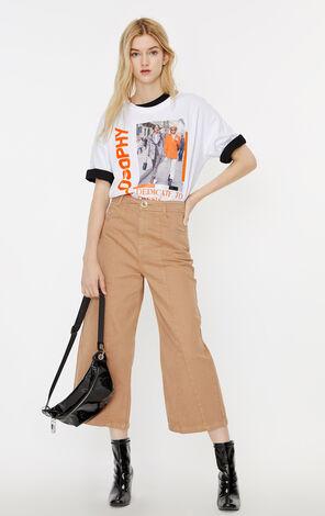 ONLY2019夏季新款高腰闊腿九分牛仔褲|119349555