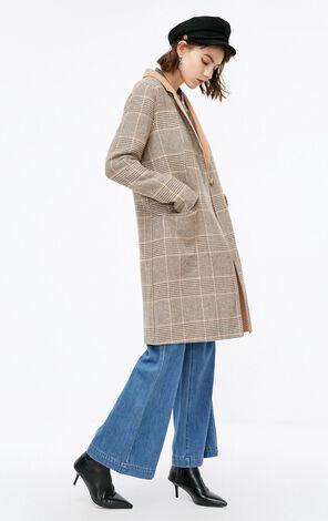 冬季新款含羊毛毛呢大衣女|11834S511