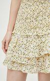 優雅碎花多層短裙, 黃, large
