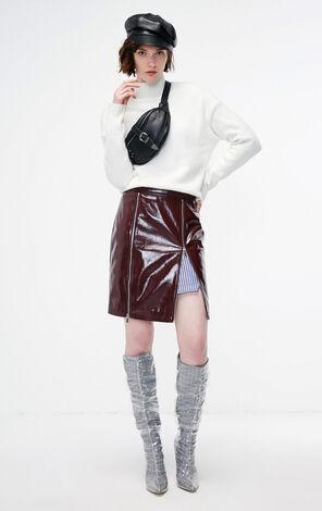 冬季新款純色半高領毛衣針織衫女|118413522