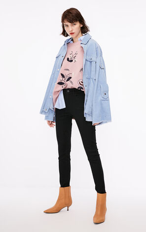 冬季新款簡約低腰緊身牛仔褲女|118449513