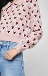 【冬季新款】復古滿版愛心設計針織衫, 紫色, large