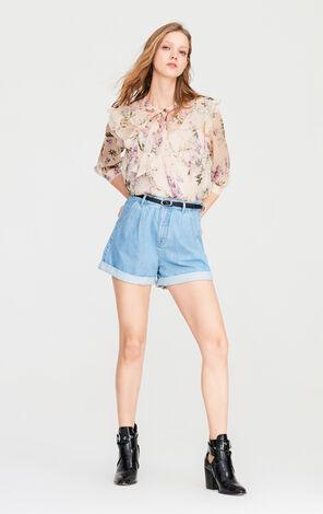 ONLY2019夏季新款寬鬆蕾絲套裝雪紡衫|119131511
